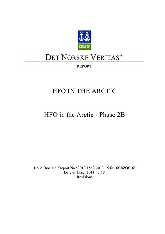 HFO in the Arctic Phase IIb final report by DNV signed