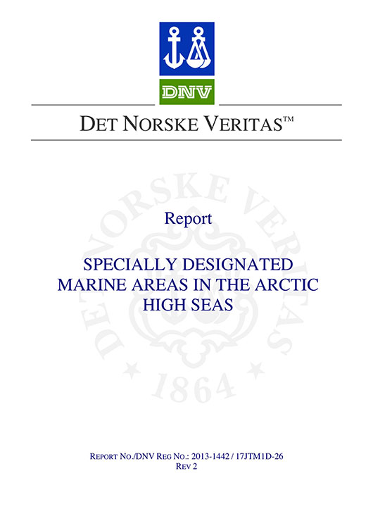 AMSA Specially Designated Marine Areas in the Arctic final report by DNV signed