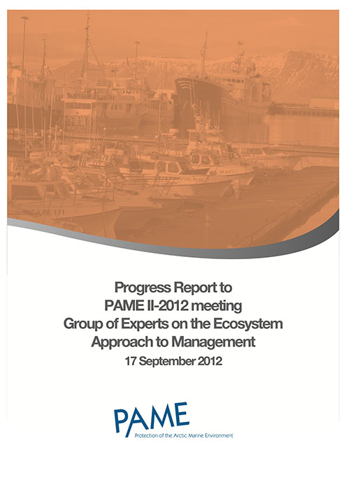 EA Progress Report PAME II 2012