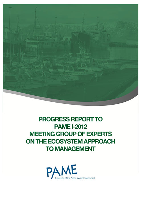 EA Progress Report PAME I 2012