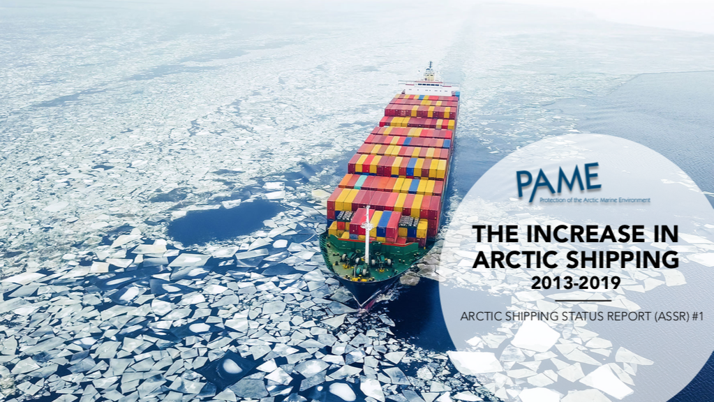 Arctic Shipping Report #1: The Increase in Arctic Shipping 2013-2019 (ESRI Storymap version)