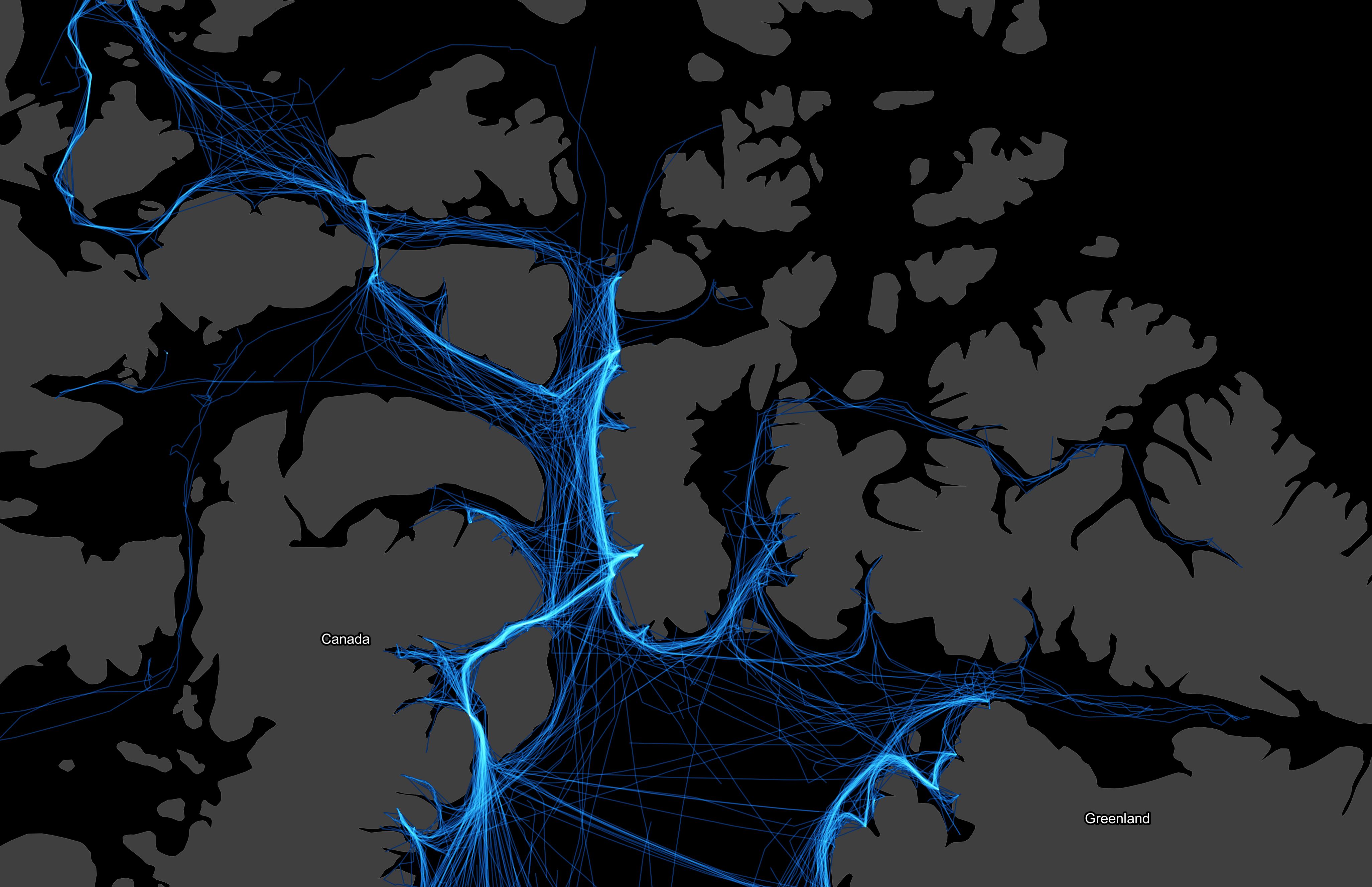 Canadian Arctic ship tracks: 2019