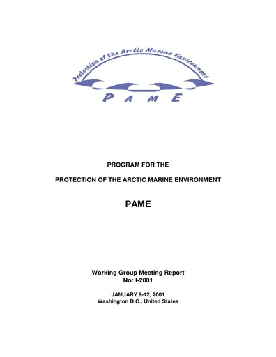 PAME I 2001 Meeting report