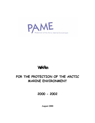 PAME Work Plan 2000-2002