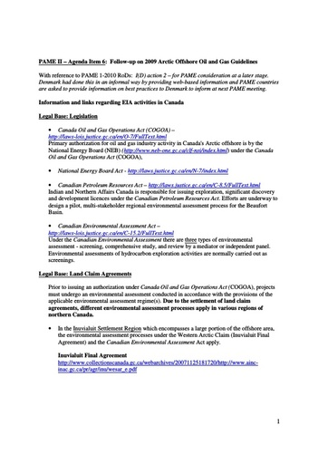Environmental impact assessment information from Arctic states: Canada