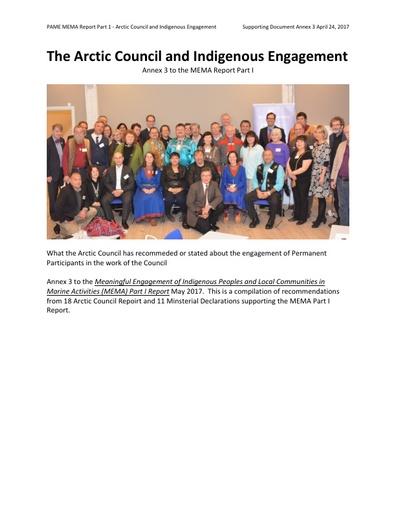 Part I Report - Annex 3: AC Indigenous Engagement Recommendations