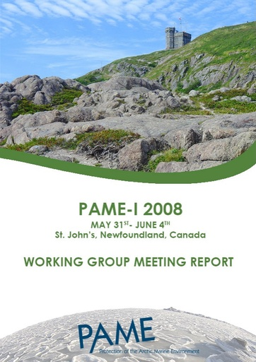 PAME I 2008 Meeting Report
