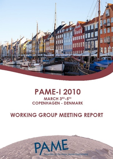 PAME I 2010 Meeting Report