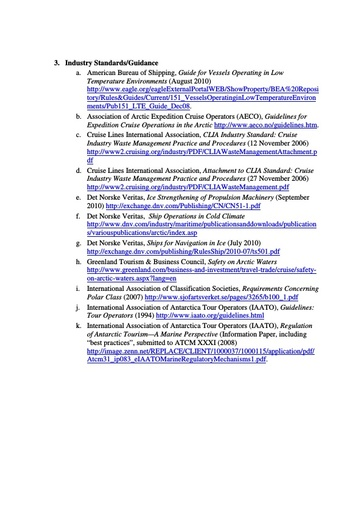 2011 Summary of Information (Industry)