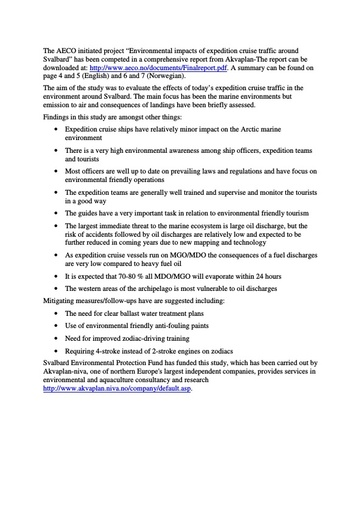 2011 Summary of Information (AECO)