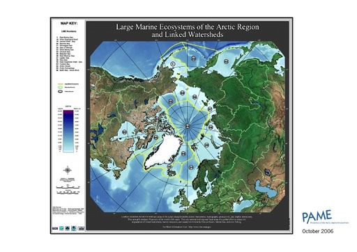 Large Marine Ecosystems of the Arctic - Map