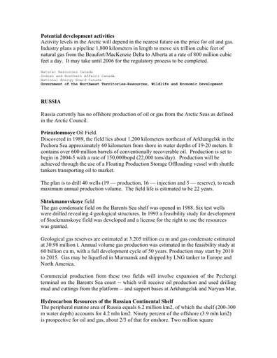 Background document - MMS oil and gas - Part 2