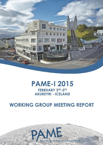 PAME I 2015 Meeting Report