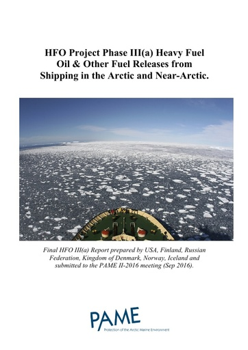 HFO in the Arctic Phase IIIa