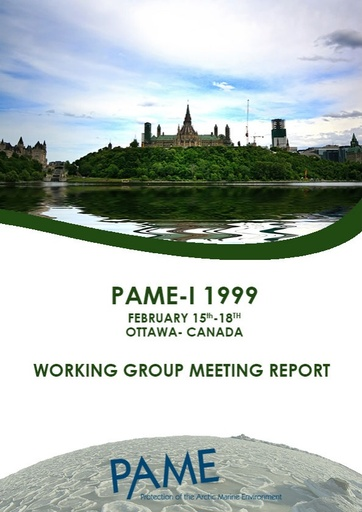 PAME I 1999 Meeting Report