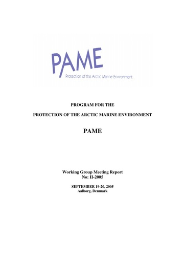 PAME II 2005 Meeting report