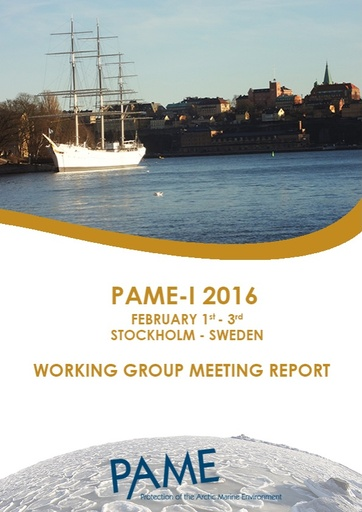 PAME I 2016 Meeting Report