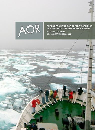 AOR Workshop report (Halifax, 2012)