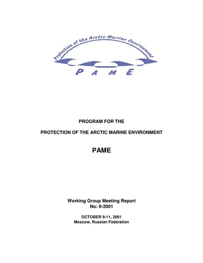PAME II 2002 Meeting report