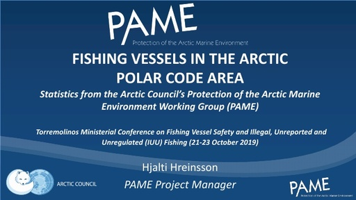 Fishing Vessels in the Arctic Polar Code area in 2018