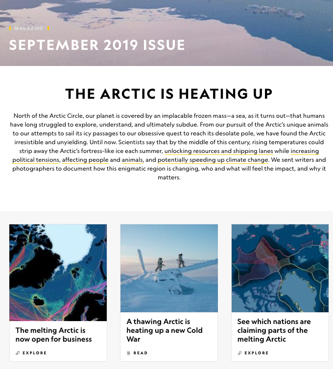 National Geographic - Arctic coverage